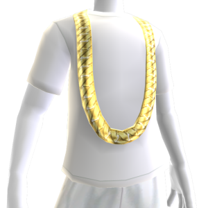 Cuban Link Chain with White Tee