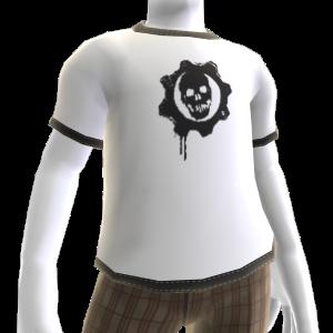 Camiseta Augurio carmesí
