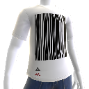 T-shirt code-barre
