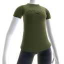 Atticus Double Cross Olive Green t-shirt
