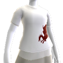 T-shirt sangue del drago bianca