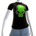 Epic Horror Skull Gamer Green T-Shirt