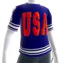 USA Soccer Blue Jersey Red Chrome