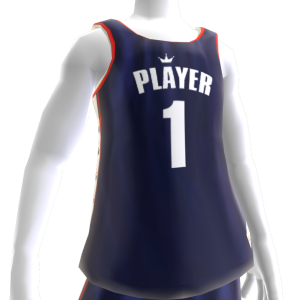 KKZ Blue White and Red Player 1 Jersey