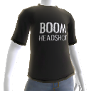 Boom Headshot Black Shirt