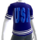 USA Soccer Blue Jersey Blue Chrome