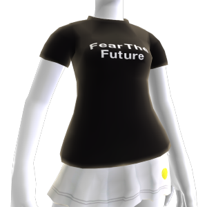 Schwarzes Fear-the-Future-Shirt