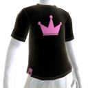 Pink on Black Crown Tee