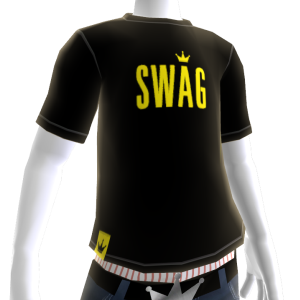 Yellow on Black Swag Tee