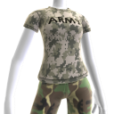 T-shirt de Camuflagem do Exército