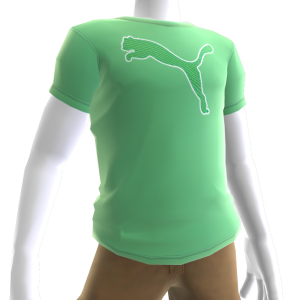 Outline Big Cat Tee - Green