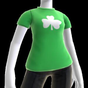 Grünes Shamrock-T-Shirt