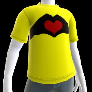 Valentine's - Heart in Hand Yellow Tee