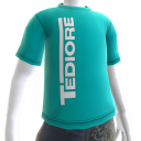 Shirt met Tediore-logo