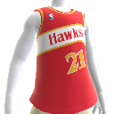Camiseta NBA 2K13 Hawks 85-86 Retro