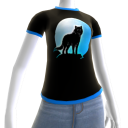 Blue Wolf Howl Shirt BT