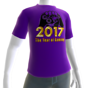 2017 Year of Gaming Purple Tee