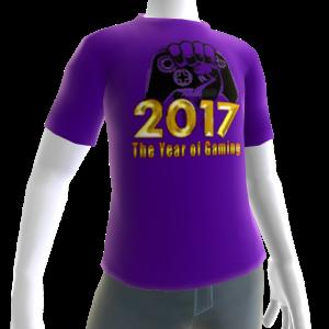 2017 Year of Gaming Purple Tee
