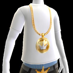 KKZ Medallion Chain on White Tee