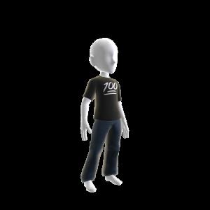100 Graphic T-shirt Black