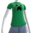 T-shirt met Minecraft-creeper