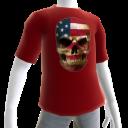 USA Soccer Skull Red