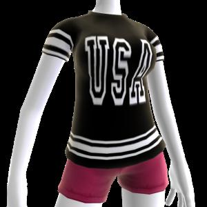 USA Soccer Black Jersey White
