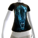 T-shirt &quot;tte d&#39;Alien&quot;