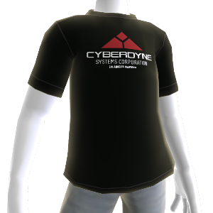 T-shirt logo Cyberdyne, noir