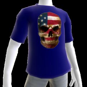 USA Soccer Skull Blue