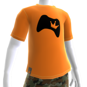 Black on Orange Controller Crown Tee