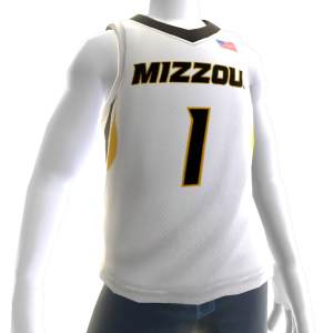 Missouri Basketball Home Jersey