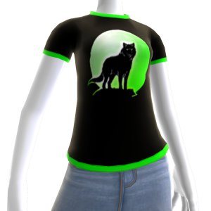 Green Wolf Howl Shirt 2 BT