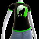 Green Wolf Howl Shirt 2 BT