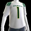 Oregon White Football Jersey