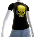 Epic Horror Skull Gamer Gold T-Shirt