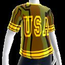 Epic Tshirt USA Gold Chrome