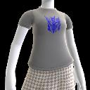 Camiseta con logotipo azul de los Decepticons
