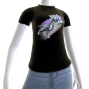 Epic Rainbow Cat Black T-Shirt