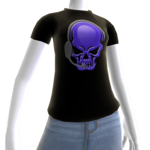 Epic Horror Skull Gamer Purple T-Shirt