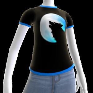 Blue Wolf Howl Shirt 2 BT