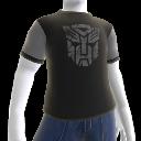 Camiseta con logotipo gris de los Autobots
