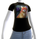 Epic Laser Cat 2 Galaxy T-Shirt