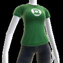 Camiseta con emblema de Linterna Verde