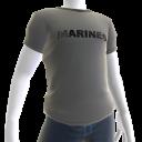 Marines Ringer Tee - Gray
