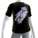 Epic Rainbow Cat Black T-Shirt