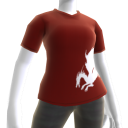T-shirt rouge Dragon de sang
