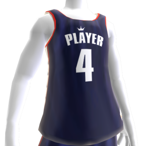 KKZ Blue White and Red Player 4 Jersey