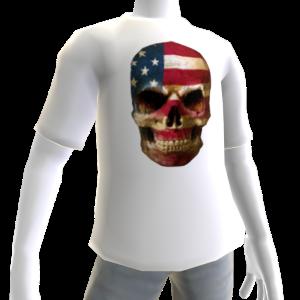 USA Soccer Skull White
