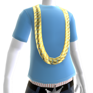 Cuban Link Chain with Sky Blue Tee